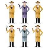 Set of Detectives2 Royalty Free Stock Image