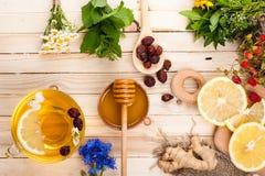 Set for Detox herbal tea. Royalty Free Stock Images
