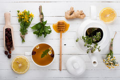 Set for Detox herbal tea. stock photos