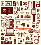Set of  devices icons and communication. Stock Images