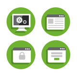 Set Devices Icons 07 Royalty Free Stock Photo