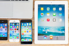 Set of devices Stock Image