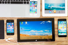 Set of devices Stock Photography