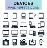 Set of devides icons. Pixel perfect trendy icons for mobile apps and web design Royalty Free Stock Photo