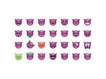 Set of devil emoticon Royalty Free Stock Image
