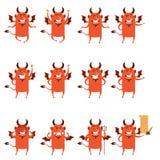 Set of devil flat icons Stock Image