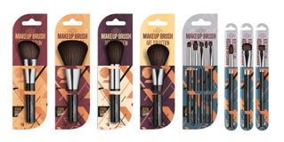 Set di pennelli professionale realistico del truccatore Immagine Stock Libera da Diritti