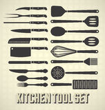 Set di strumenti della cucina Fotografia Stock