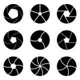 Set diafragma in vector Stock Image