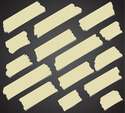 Set of diagonal and different size sticky tape Stock Images