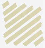 Set of diagonal and different size sticky tape Royalty Free Stock Images