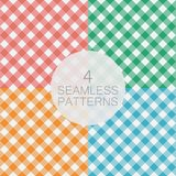 Set of diagonal Gingham seamless pattern. Vector illustration. Set of Gingham seamless pattern. Diagonal stripes, texture for - plaid, tablecloths, clothes Royalty Free Stock Photo