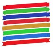 Set of diagonal ribbon banners Royalty Free Stock Photo
