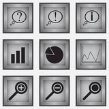 Set of 9 diagram icons Stock Photography