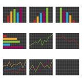 Set Diagramme Lizenzfreie Stockfotografie