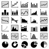 Set of diagrams Stock Photography