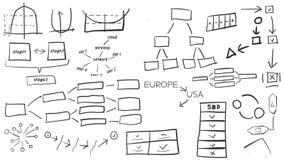 Set diagramy i elementy royalty ilustracja