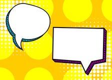 Set dialog blank template pop art comic text Royalty Free Stock Photos