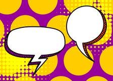 Set dialog blank template pop art comic text Stock Image