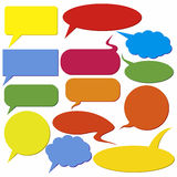 Set of dialog boxes Royalty Free Stock Images