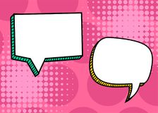 Set dialog blank template pop art comic text Royalty Free Stock Photo