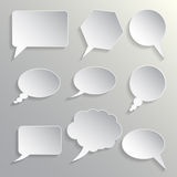 Set of dialogues grey Stock Photo