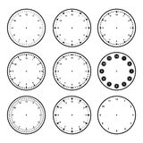 Set of dials with different graduations Stock Images
