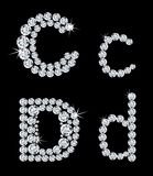 Set of diamond alphabetic letters . Vector Stock Photo
