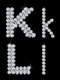 Set of diamond alphabetic letters . Vector Stock Images