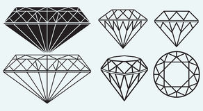 Set of diamond design elements Stock Photo