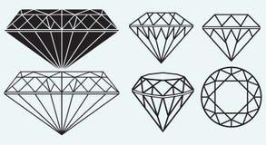 Set of diamond design elements Stock Photo
