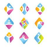 Set of diamond fitness symbols. Stock Photography