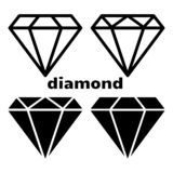 Set of diamond icon. Vector illustration stock illustration