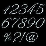 Set of diamond numbers Royalty Free Stock Photography