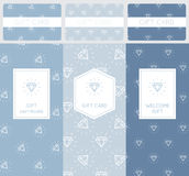 Set of Diamond Pattern Elements. Branding and Packaging Design for Gift Cards and Certificates Stock Image