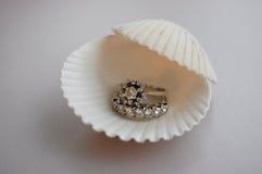Set of diamond rings Royalty Free Stock Photos