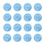Set of diamond web icons,symbol,sign in flat style Stock Photo