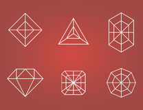 Set of diamonds icons Stock Photo