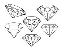 Set of diamonds icons. Royalty Free Stock Image