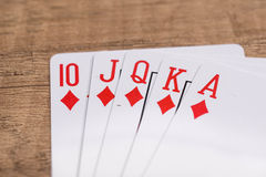 Set of Diamonds suit playing cards Royalty Free Stock Photos