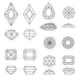 Set of diamonds Royalty Free Stock Image