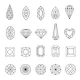 Set of diamonds Royalty Free Stock Images