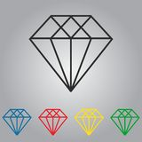 Set of diamonds vector icons Royalty Free Stock Image