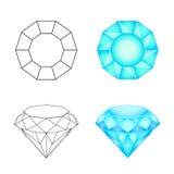 Set diamonds on a white background . Eps 10 Vector illustration Stock Photos