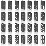 A set of dice for a game of dominoes. Stock Images