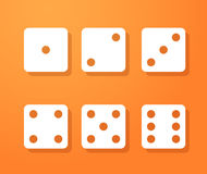 Set of dice icons Stock Photography