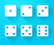 Set of dice icons Royalty Free Stock Image