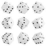 Set of dice Royalty Free Stock Photos