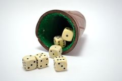 Set of dice on white background royalty free stock photo