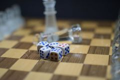 A set of 5 Dices royalty free stock image